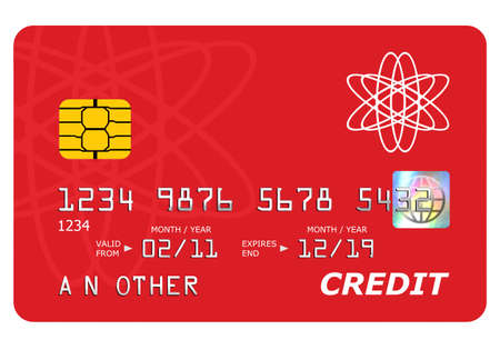 Everything on this mock credit card including the hologram has been designed by myself, the number and name is generic. Stock Photo - 9271780
