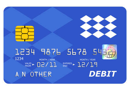Everything on this mock debit card including the hologram has been designed by myself, the number and name is generic. photo