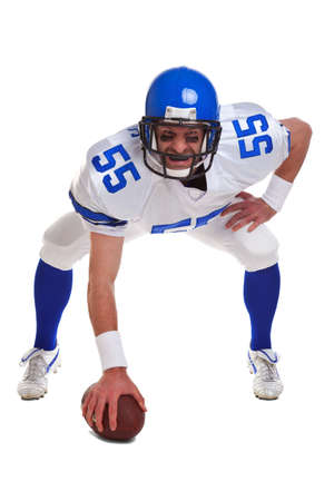 football american: an American football player, cut out on a white background.