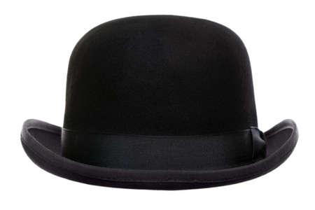 sombrero: Foto de un sombrero hongo o derby de recorta en un fondo blanco