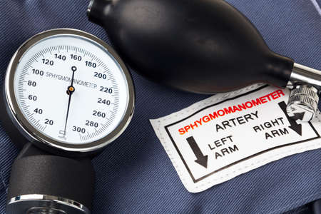 sphygmomanometer: Photo of a Sphygmomanometer, the medical tool used to measure blood pressure.