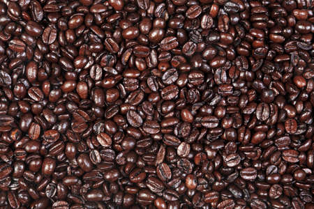 Photo of fresh roasted arabica and robusta coffee beans suitable for use as a background. Stock Photo - 13248058