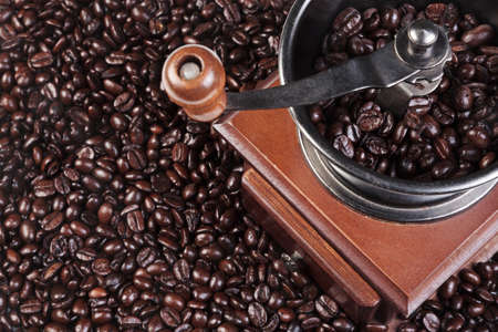 Photo of a coffee grinder with fresh roasted arabica and robusta beans Stock Photo - 13263418