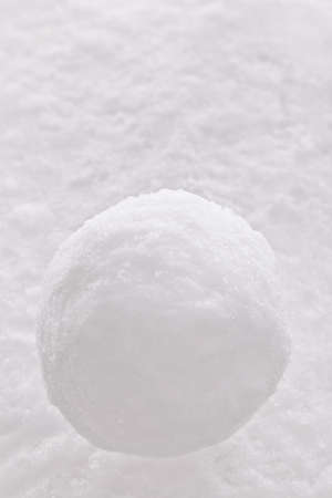 One single snowball on a snow background. Stock Photo - 17681933