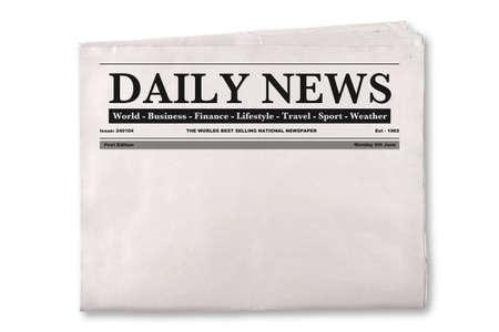 Mock-up van een leeg dagelijkse krant met lege ruimte om uw eigen nieuws of kop tekst en foto's toe te voegen.