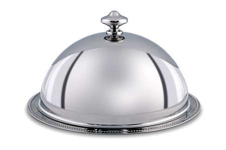 silver serving dome   Stock Photo - 18592218