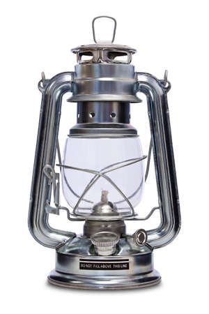 kerosene lamp: Paraffin lamp also commonly known as a Kerosene, Hurricane, Storm or Tilley lamp isolated on a white background with clipping path.