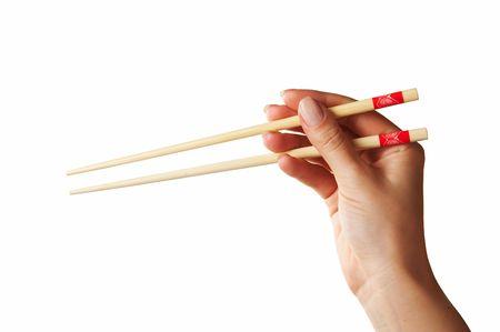 chopsticks in hand