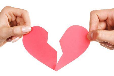 man woman hands holding broken heart Stock Photo - 570132