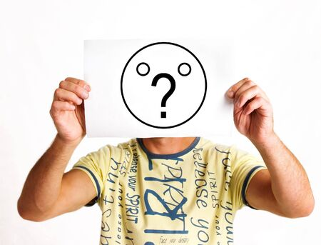 face as question mark Reklamní fotografie