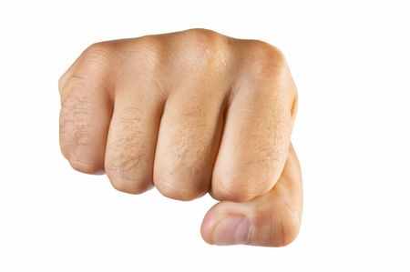 fist isolated Stock Photo
