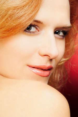 flirty portrait of redhead woman