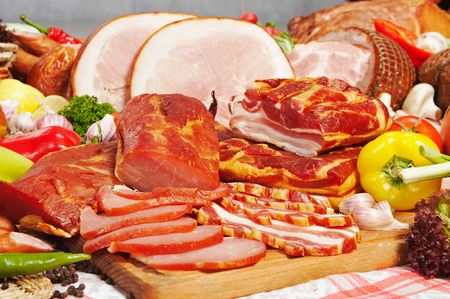 meat composition Stock Photo