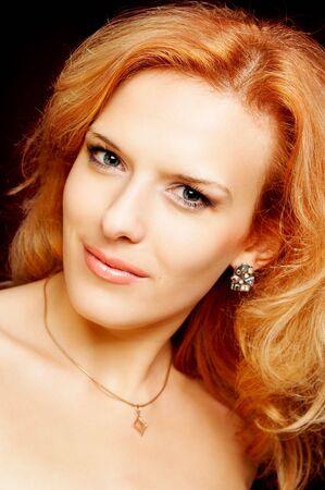 portrait of redhead beautiful woman