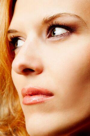 redhead closeup Stock Photo
