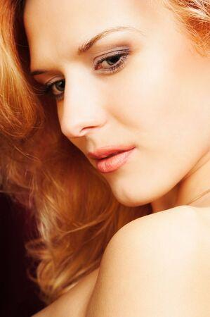 redhead sexy woman Stock Photo