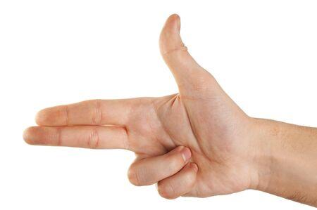 gun gesture Stock Photo