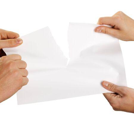 tearing sheet of paper strongly Reklamní fotografie