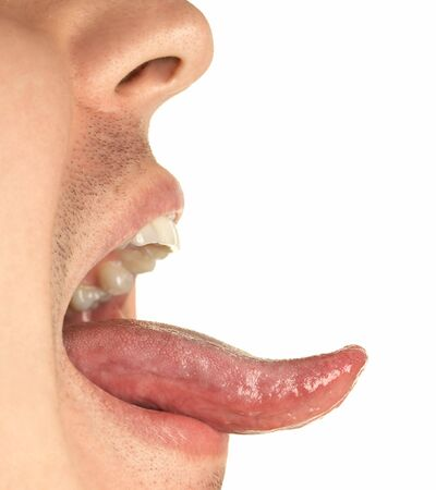 lick: mouth and tongue Stock Photo