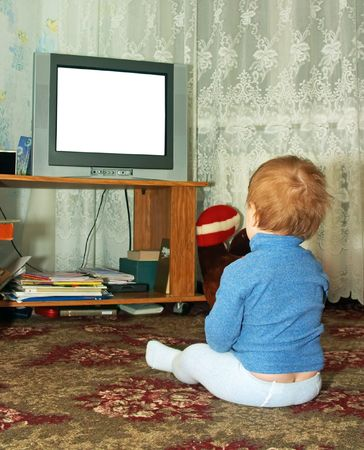 television show: child watching TV