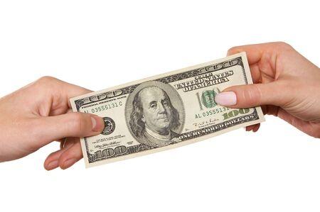 hands  holding cash Reklamní fotografie