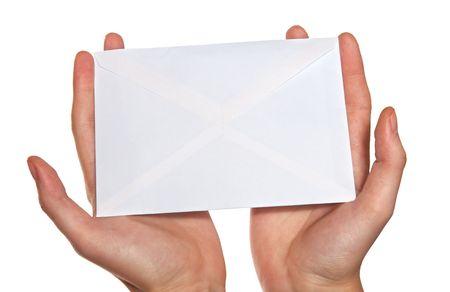 hands  holding envelope Stock Photo
