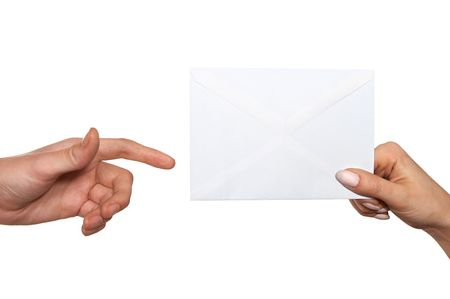 passing envelope Stock Photo - 676409