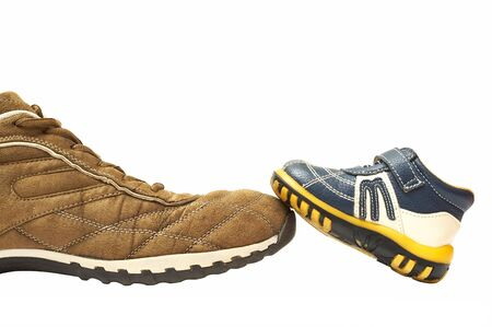 father shoe and son shoe photo