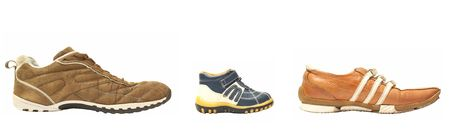father son mother shoes Stock Photo - 801864