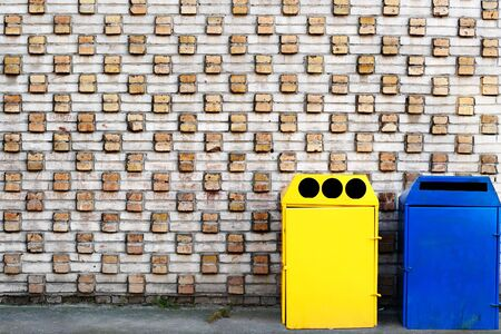 garbage cans photo