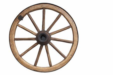 carreta madera: Antigua rueda Foto de archivo