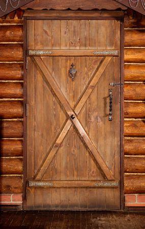 Wooden door Reklamní fotografie