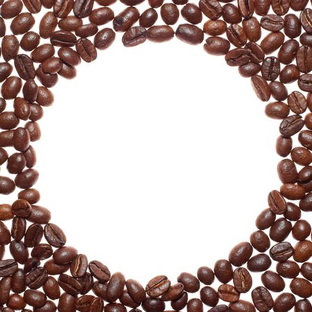 circle coffee frame Reklamní fotografie