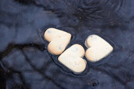 three hearts in the water Stock Photo - 865282