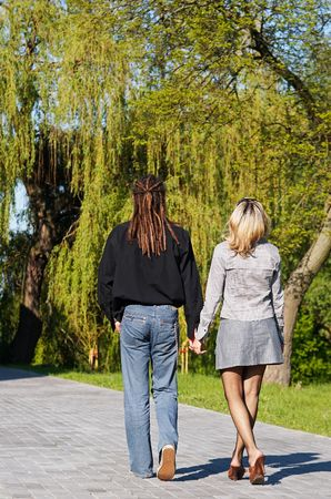couple walking away Stock Photo - 960872