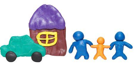 modelling clay happy family Stock Photo - 2168270