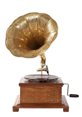 reproductive technology: old fashioned gramophone