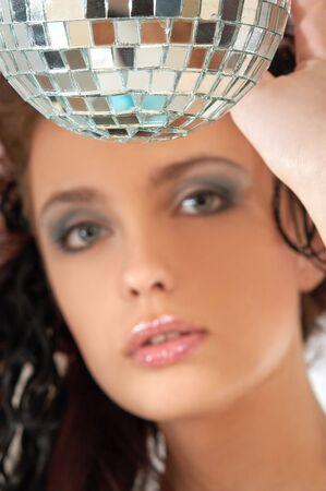 ifestyle: portrait with disco ball Stock Photo
