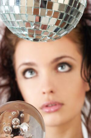 ifestyle: portrait with glass sphere and disco ball