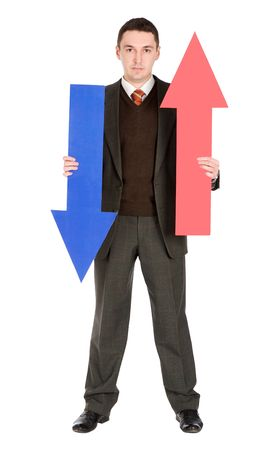 businessman with arrows