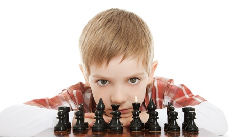 boy playng chess