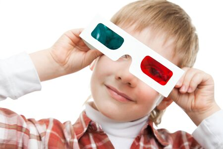 kid with 3d glasses Stock Photo - 9522629