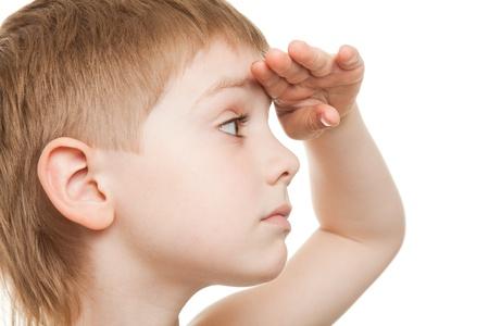 niño mirando fijamente lejos Foto de archivo - 9608868