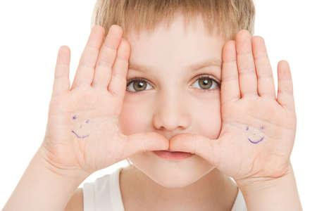 child  portrait with smilig palms Stock Photo - 9608869