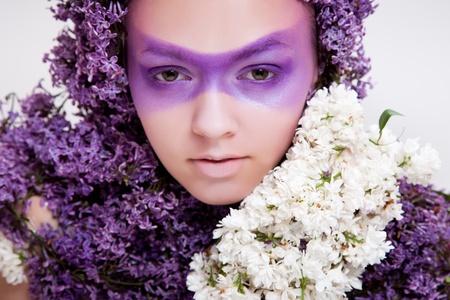 lilac beauty girl portrait Stock Photo - 9675066