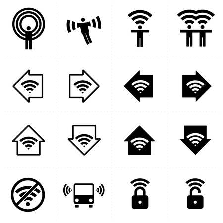 hotspot: WiFi icons set