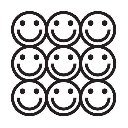 happy: happy faces