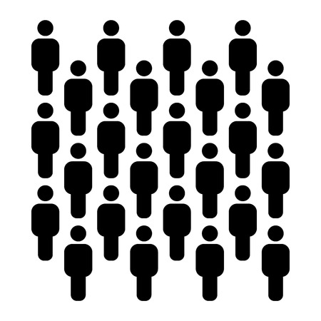 People group pattern - human icons silhouettes 일러스트