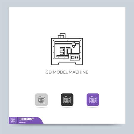 modern technology icon symbol logo illustration. Graphic vector design element. Template design Vettoriali