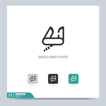 modern camping icon symbol logo illustration. Graphic vector design element. Template design